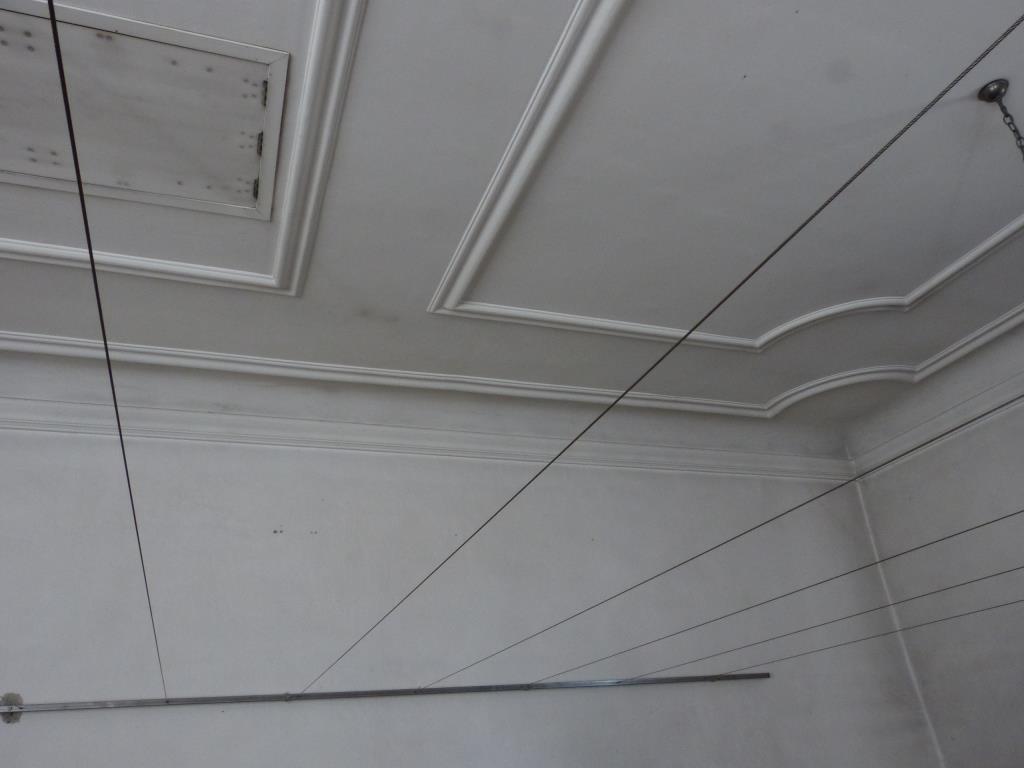 Innenraum Alte Kirche Deckenkonstrukt