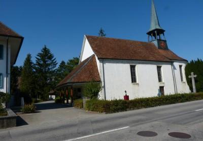 Gebäudeansicht Alte Kirche Härkingen